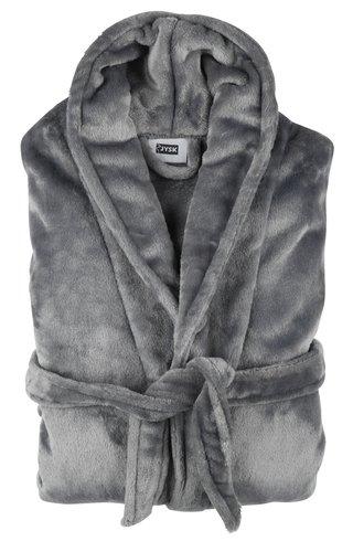Badjas Micro LERUM L/XL donker grijs