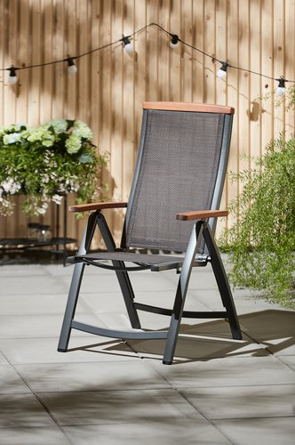 Silla reclinable MADERNE gris