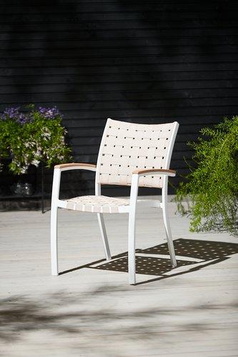 Cadeira empilhável JEKSEN branco
