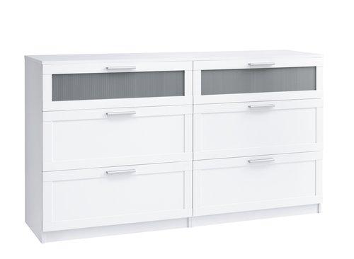 Komoda AABYBRO 3+3 szuflady biała