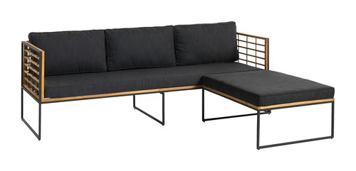 Sofá ext UGILT chaise longue 3p madera