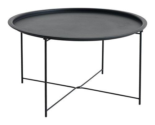Table basse RANDERUP Ø75 noir