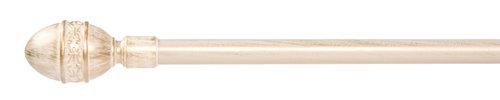 Gardinstang MELLOW 160-300cm hvit/gull