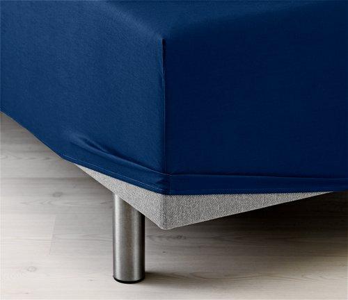Faconlagen 180x200x35cm blå KRONBORG
