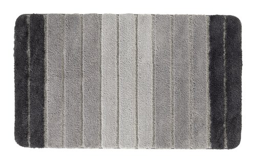 Badematte STRIPE 65x110 grau