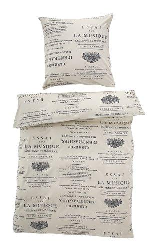 Conjunto lençóis MUSIQUE CAS cinzento