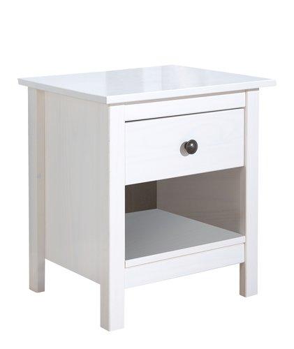 Table de nuit LUIS 1 tiroir blanc