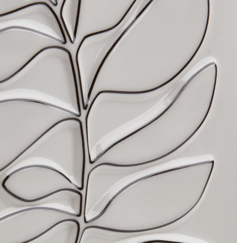 Adorno pared HALLVARD 16x22 cm blanco
