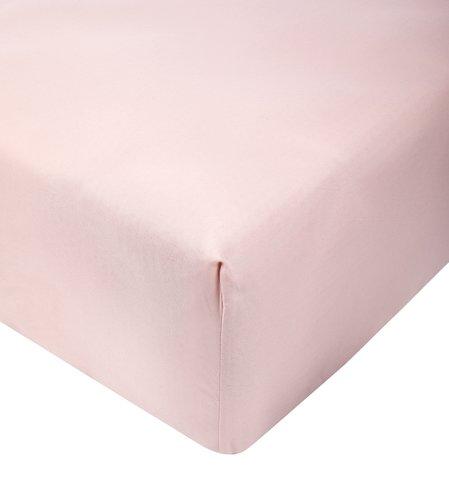 Sábana ajust satén 90x200x30cm rosa