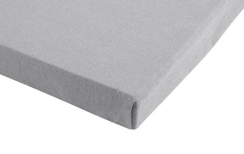 Jersey-Spannleintuch 150x200x30 grau