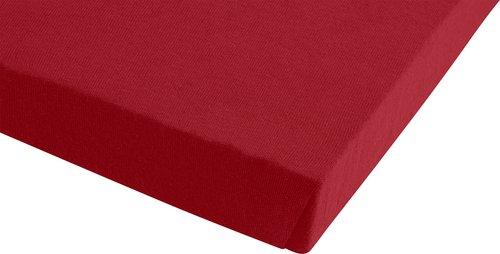 Jersey-Spannleintuch 150x200x30 rot