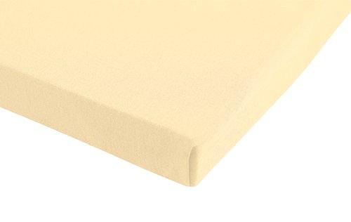 Jersey-Spannleintuch 100x200x28 beige