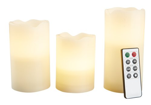 Stumpenkerze KRISTJAN 3Stck/Pck m/LED