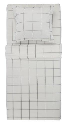 Σετ σεντονιών CRISTA 2x160x240 λευκό/μ.