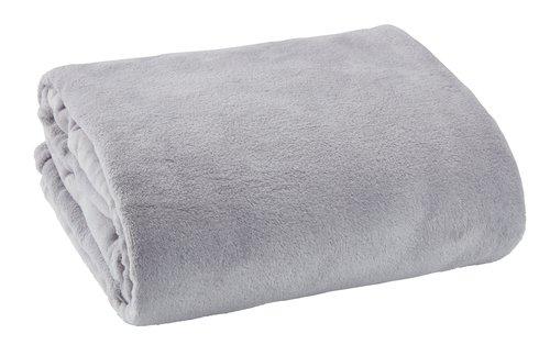 Plaid DRAGEHODE fleece 140x200 grå