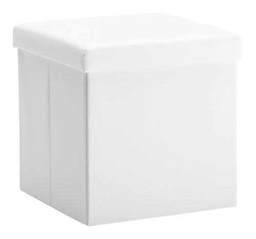 Pufe LADELUND 40x40 c/arrumação branco