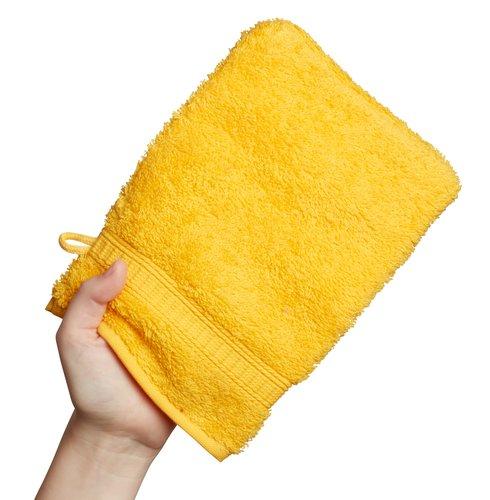 Guanto da bagno KRONBORG DE LUXE giallo