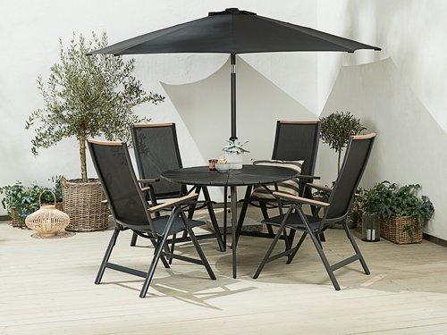 Vrtna miza RANGSTRUP Ø110 cm črna