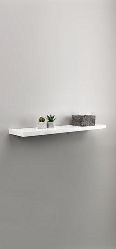 Zwevende plank ABILD 120x24 wit
