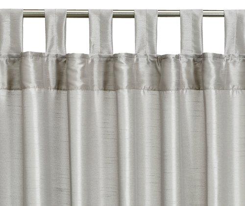 Zavesa LUPIN 1x140x300 imit.svile sreb.