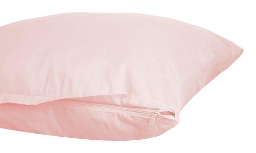 Funda amohada satén 45x110 2 uds rosa
