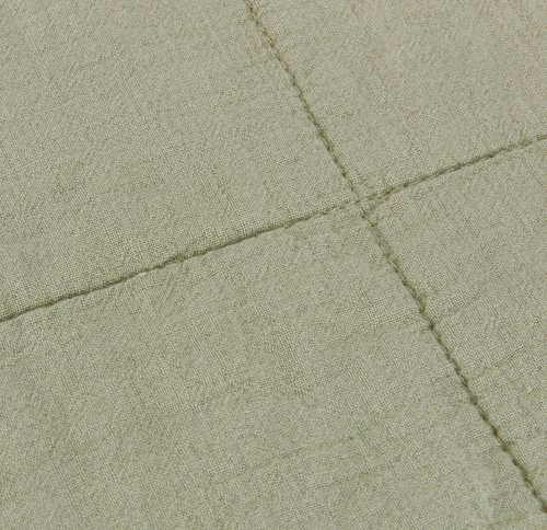 Ватирано одеяло VALMUE 130x180 см зелено