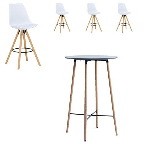 Barska miza JONSTRUP Ø70 črna/hrast