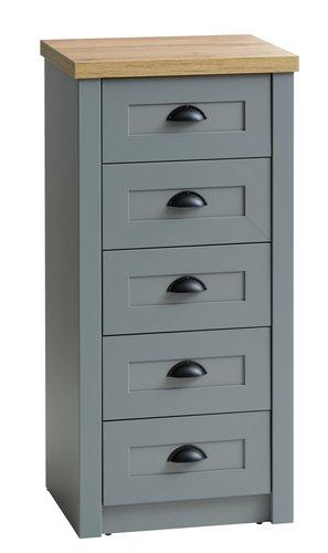 5 drawer chest MARKSKEL grey