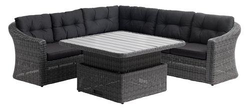 Lounge set TAMBOHUSE 5 lug cinzento