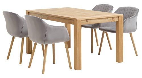 Trpez. stol HAGE 90x150 royal hrast