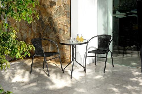 Cafébord BLOKHUS Ø60 svart