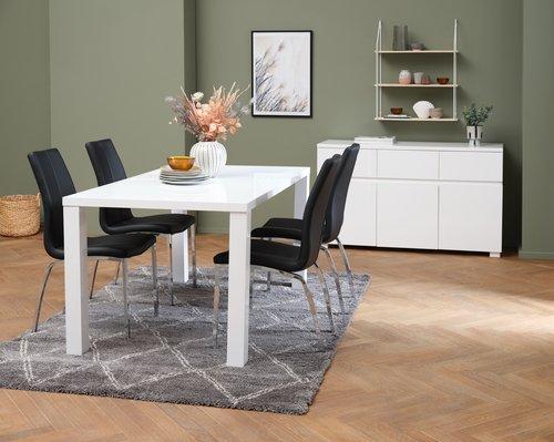 Spisebord OMME 90x160 høyglans