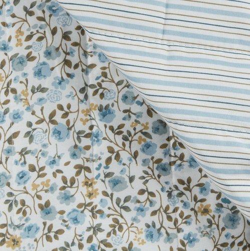 Manta acolchoada FLORA 140x200 sort.