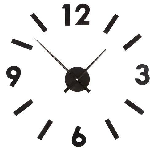 Zidni sat VERNER samoljep. brojevi crna