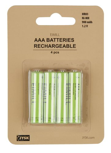Pile EIMILL rechargeable AAA 4pcs/pqt