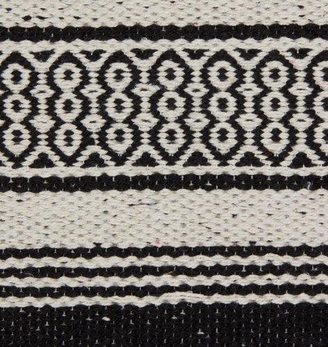 Teppe STORBORRE 80x200 svart/hvit