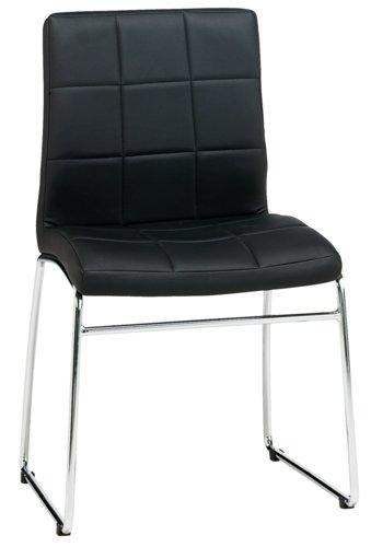Jedálenská stolička HAMMEL čierna/chróm