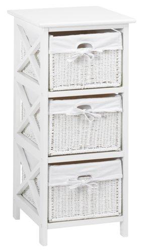 Komoda OURE 3 košíky bílá