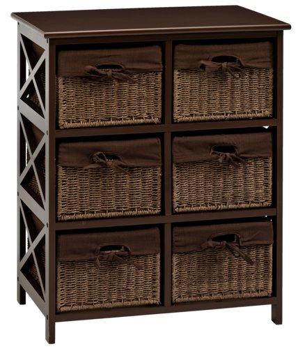 6-καλάθια Συρταριέρα OURE καφέ