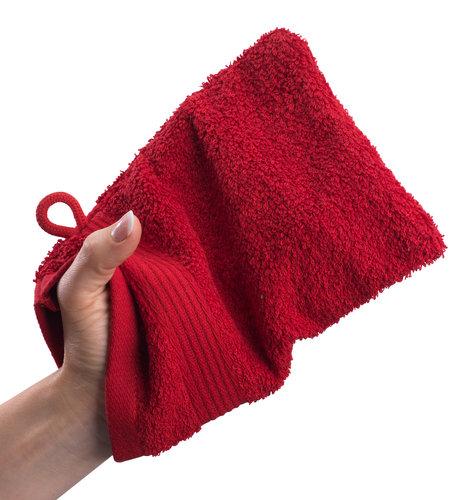 Guanto da bagno KARLSTAD 15x21 rosso