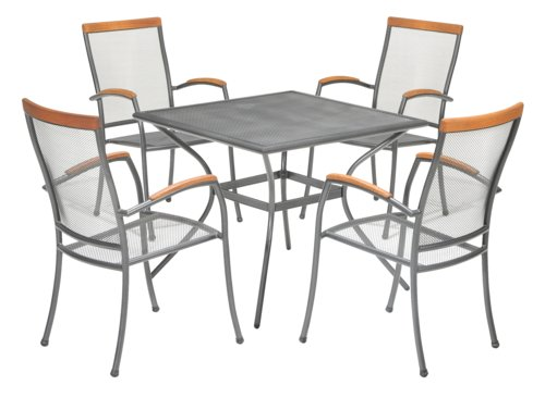 Table LARVIK W88xL88 grey