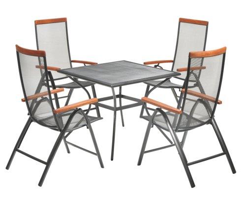Miza LARVIK D88 + 4 nast. stoli LARVIK