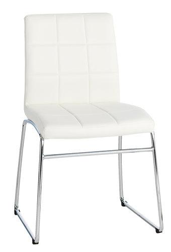 Stol HAMMEL hvit/krom