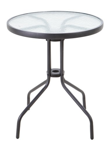 Asztal BLOKHUS ÁTM60cm fekete