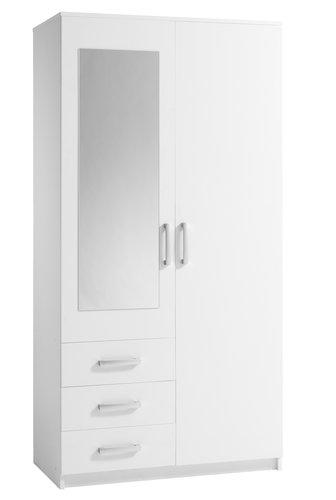 Armoire VINDERUP 100x200 combi blanc