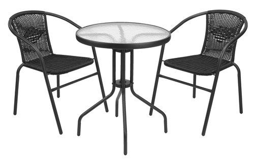 Balkonový stolek BLOKHUS Ø60 černá