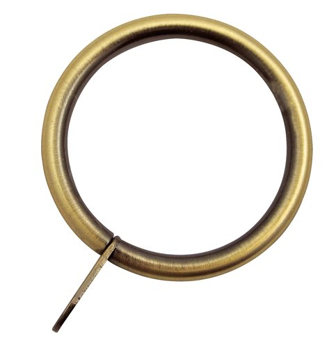 Curtain rings PRESTINE 28mm 8 pack brass