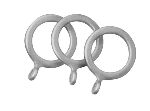 Curtain rings COUNTY 10 pcs silver