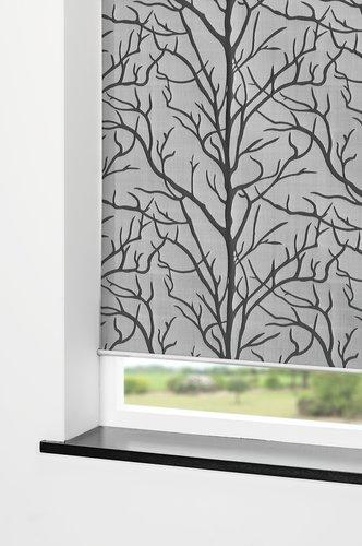 Rullegardin BARKEN 100x170cm grå/sort