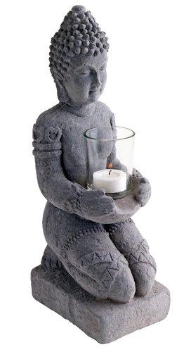 Suport lumânare OLOF 35cm Buddha ciment